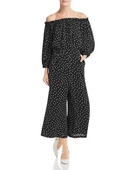 ab20443ac5c Eliza J - Off-the-Shoulder Polka-Dot Jumpsuit ...