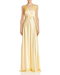 Jill Jill Stuart - Bow-Back Satin Gown