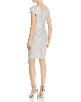 Tadashi Petites - Ruched Sequined Dress