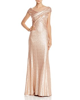 Tadashi Shoji - Off-the-Shoulder Sequined Gown