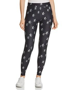 3b58e90cf HUE - Star Print Lightweight Knit Leggings ...