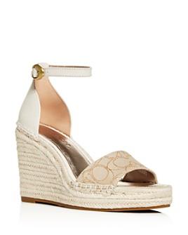 COACH - Women's Kit Platform Wedge Espadrille Sandals
