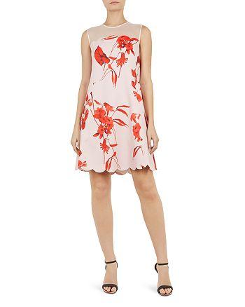 Ted Baker - Jaazmin Fantasia-Print Mini Dress