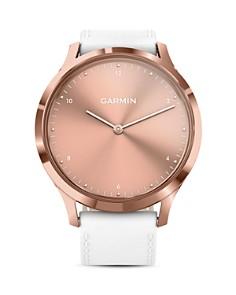 Garmin - Vivomove HR Rose Gold Touchscreen Hybrid Smartwatch, 43mm