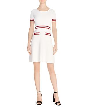 Sandro Elvira Striped-Trim Knit Dress