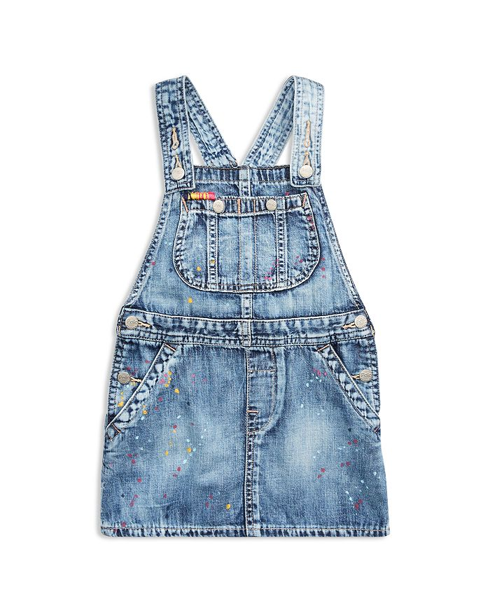 Ralph Lauren - Girls' Overall Denim Dress - Little Kid