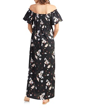 Ingrid & Isabel - Maternity Smocked Off-the-Shoulder Maxi Dress