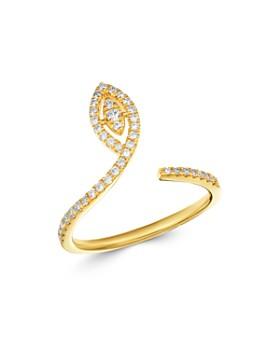Madhuri Parson - 14K Yellow Gold Diamond Essentials Single Petal Ring