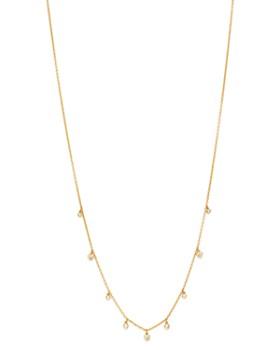 "Madhuri Parson - 14K Yellow Gold Diamond Essentials Heart Diamond Cluster Necklace, 18"""