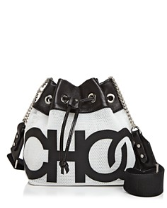 Jimmy Choo - Juno Choo Mini Logo Mesh Bucket Bag