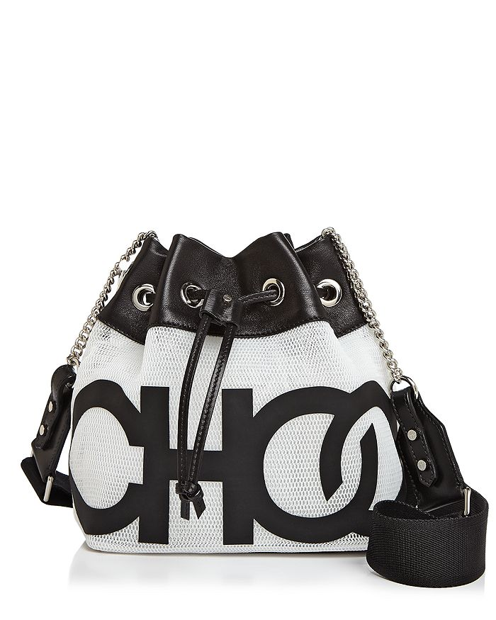 Jimmy Choo - Juno Choo Mini Logo Mesh Bucket Bag