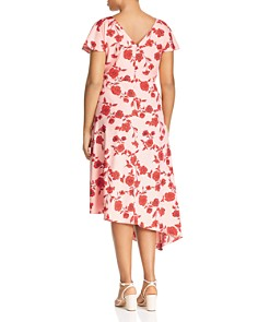 Adrianna Papell Plus - Living Blooms Ruffle-Trim Dress