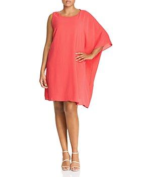 Adrianna Papell Plus - One-Sleeve Caftan Dress