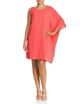 780a3fc50f Adrianna Papell Plus - One-Sleeve Caftan Dress ...