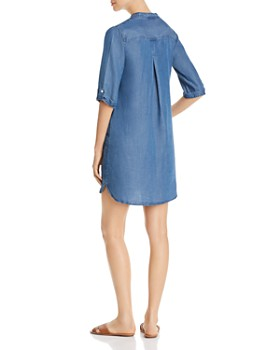 Alison Andrews - Chambray Lace-Up Popover Dress