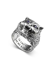 Gucci - Sterling Silver Gucci Garden Anger Forest Wolf Head Ring