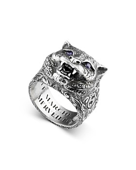 a3b01720c Gucci - Sterling Silver Gucci Garden Anger Forest Wolf Head Ring