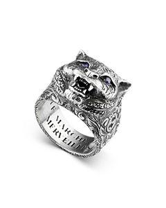 8588c2326861fb Gucci Sterling Silver Gatto Ring