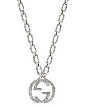 ad414927e6 Gucci - Sterling Silver Interlocking G Pendant Necklace