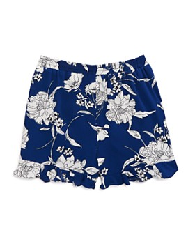 AQUA - Girls' Floral Print Ruffled Shorts, Big Kid - 100% Exclusive