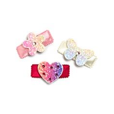 GiGi - Girls' Rhinestone 3-Piece Hair Clip Set - 100% Exclusive