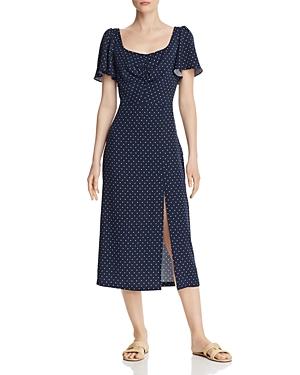 Vintage Dresses Australia- 20s, 30s, 40s, 50s, 60s, 70s leRumi Audrey Polka-Dot Midi Dress AUD 237.52 AT vintagedancer.com