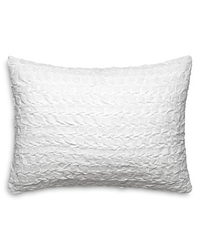 """Vera Wang - Linear Tucks Decorative Pillow, 15"""" x 20"""""""