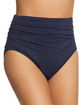 Carmen Marc Valvo - Shirred High-Waist Bikini Bottom