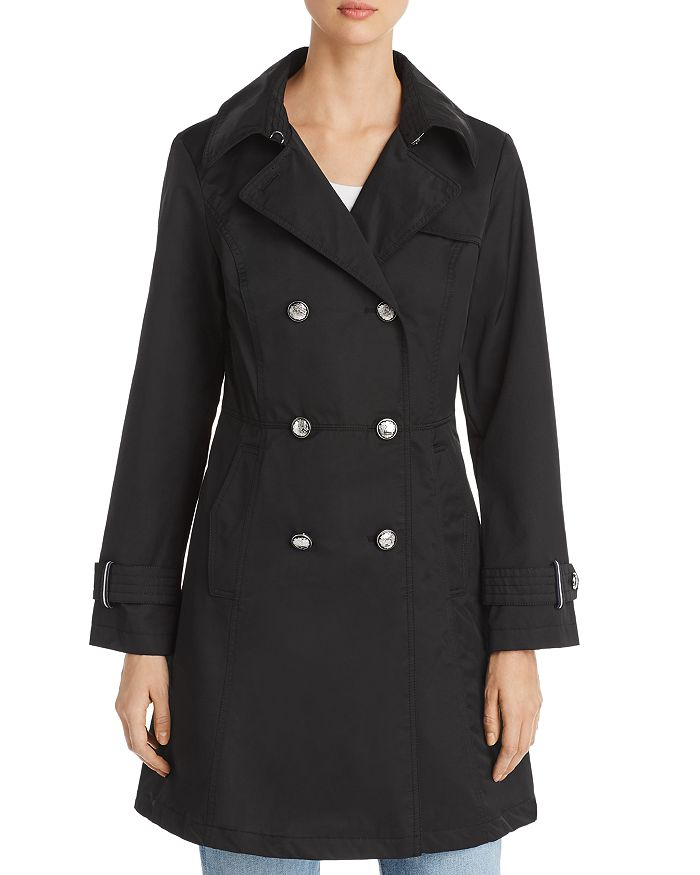 VINCE CAMUTO - Double-Breasted Button Front Trench Coat