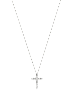 Bloomingdale's Diamond Cross Pendant Necklace in 14K White Gold, 1.0 ct. t.w. - 100% Exclusive