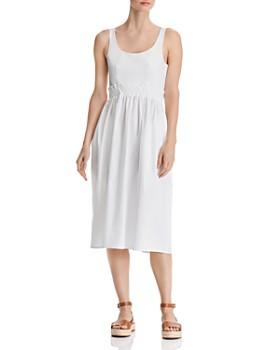 0cb4d3b8d9d AQUA - Tie-Back Poplin Midi Dress - 100% Exclusive ...