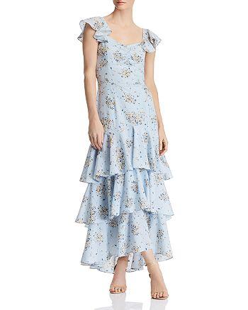 AQUA - Floral-Print Tiered Maxi Dress - 100% Exclusive