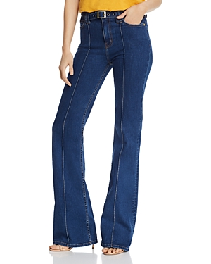 60s – 70s Pants, Jeans, Hippie, Bell Bottoms, Jumpsuits CurrentElliott The Admirer High Rise Flare Jeans in Scorpio AUD 398.07 AT vintagedancer.com