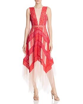 BCBG - Color-Block Lace Gown