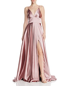 Faviana Couture - Draped Charmeuse Gown