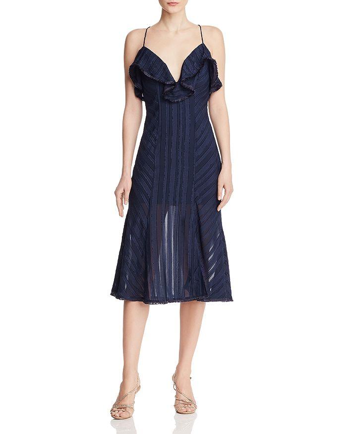 Finders Keepers - Soraya Tonal-Stripe Dress