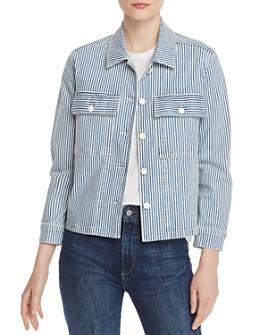 FRAME - Engineer-Stripe Denim Shirt Jacket