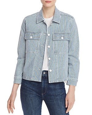 Frame Jackets ENGINEER-STRIPE DENIM SHIRT JACKET