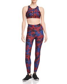 Wear It To Heart - Mesh-Back Camo Sports Bra