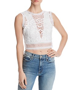 GUESS - Tiffany Lace Cropped Top