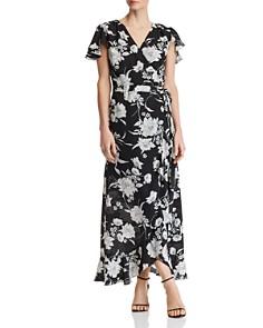 AQUA - Floral-Print Wrap Maxi Dress - 100% Exclusive