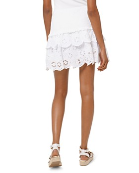 MICHAEL Michael Kors - Eyelet-Lace Smocked Skirt