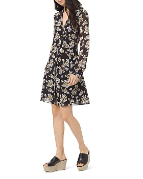7769091b29 MICHAEL Michael Kors - Floral Shirt Dress ...