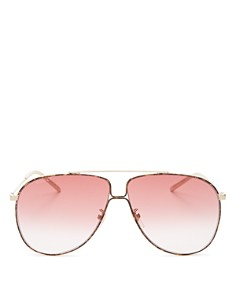 Gucci - Women's Aviator Sunglasses, 63mm