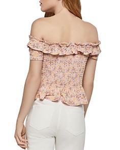 BCBGENERATION - Floral Smocked Off-the-Shoulder Top
