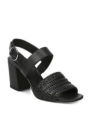 Via Spiga Women's Evelyne Woven Block Heel Slingback Sandals