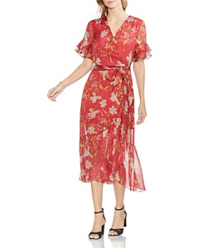 VINCE CAMUTO - Wildflower Faux-Wrap Dress