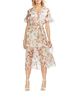 Vince Camuto Dresses WILDFLOWER FAUX-WRAP DRESS