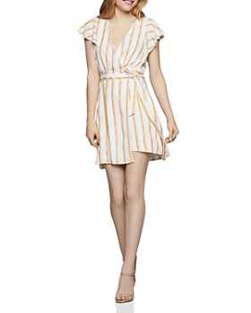 BCBGENERATION - Striped Wrap Dress - 100% Exclusive