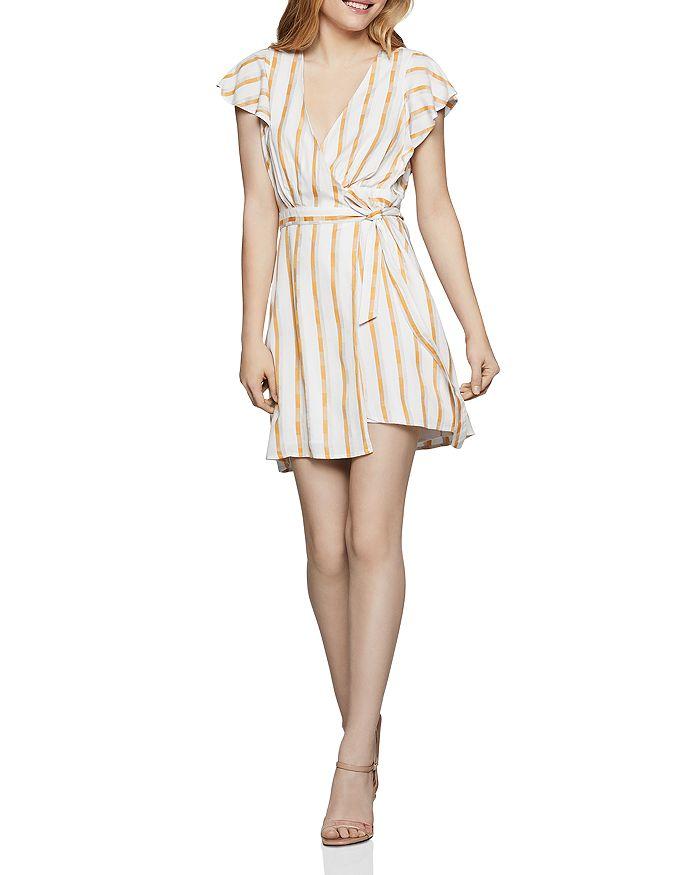 BCBGENERATION - Striped Wrap Dress - 100% Exclusive
